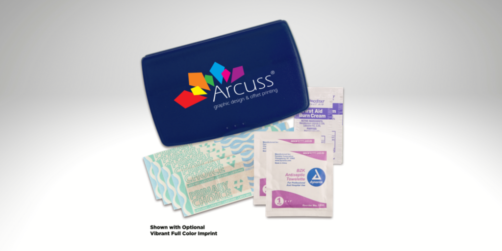150 mini first aid kits with one color imprint for $279*